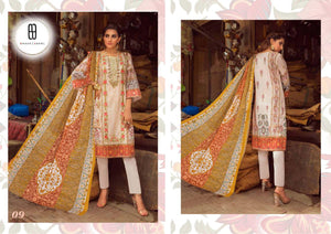 EMAAN VOL -1, PURE LAWN COTTON SUIT ( SET OF 10)