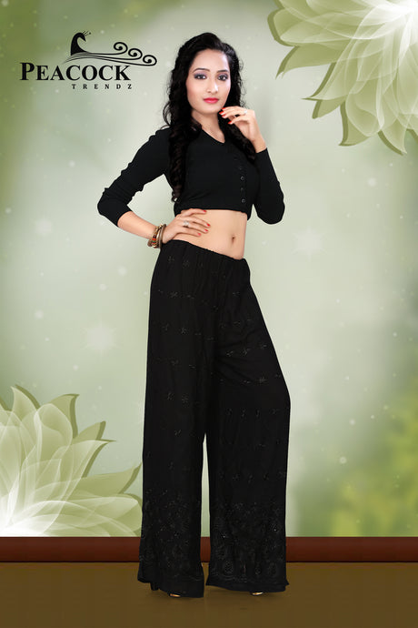 Peacock Rayon Palazzo Pants Wholesale Catalog - Textile And Handicraft