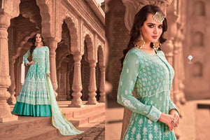 Virasat LUCKNOWI - Designer Gown Exclusive Collection ( SET OF 4)