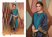 PARIDHAN VOL-3, SILK TOP AND COTTON SLAB BOTTOM DESIGNER SUIT WITH BANARASI SILK DUPATTA (SET OF 8) Designer Salwar Kameez Wholesale catalogue