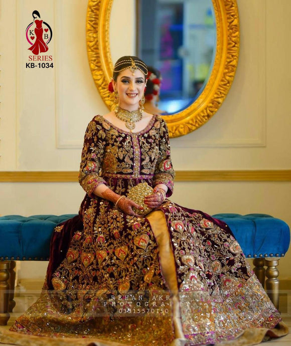 KB DESIGNER BRIDAL GOWN BOUTIQUE COLLECTION WITH HEAVY EXCLUSIVE WORK