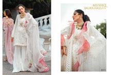 MUSHQ- CAMBRIC COTTON DESIGNER SUIT WITH EMBROIDERY AND BEAUTIFUL PEARL WORK ( SET OF 4)  catalogue