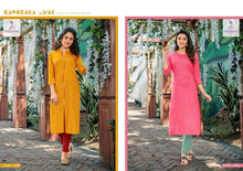 POONAM- SPRING RAYON KURTI WITH HAND WORK ( SET OF 12)  catalogue
