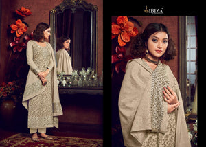 IBIZA-LYBA, PURE HANDLOOM WEAVING DESIGNER SUIT/SALWAR KAMEEZ (SET OF 7)