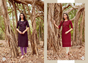 ZENIA KURTIS ( SET OF 9)