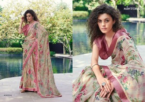 TEJAL- DESIGNER SAREE WITH SATIN LACE ( SET OF 10)