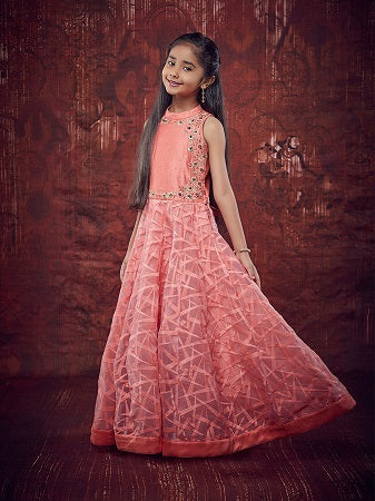 Girl's Party Wear- 96001 - Textile And Handicraft