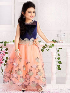 Girl's Party Wear -9004 - Textile And Handicraft