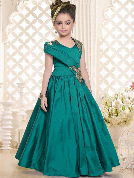 Girl's Party Wear - 96005 - Textile And Handicraft
