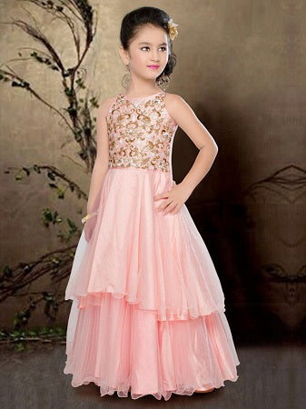Girl's Party Wear 96006 - Textile And Handicraft