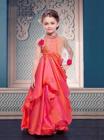 Girl's Party Wear - 96008 - Textile And Handicraft