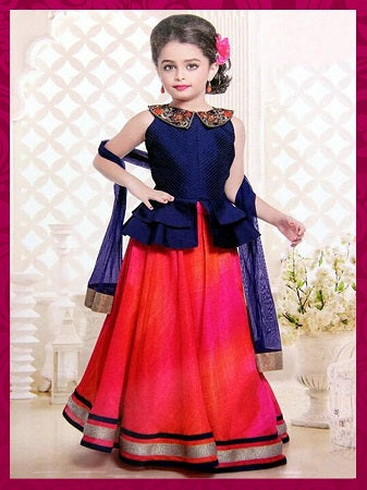 Girl's Party Wear - 96009 - Textile And Handicraft