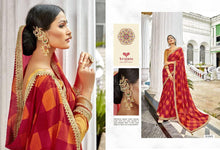 GANGOTRI- PURE GEORGETTE DESIGNER SAREE WITH EMBROIDERY( SET OF 8)  catalogue