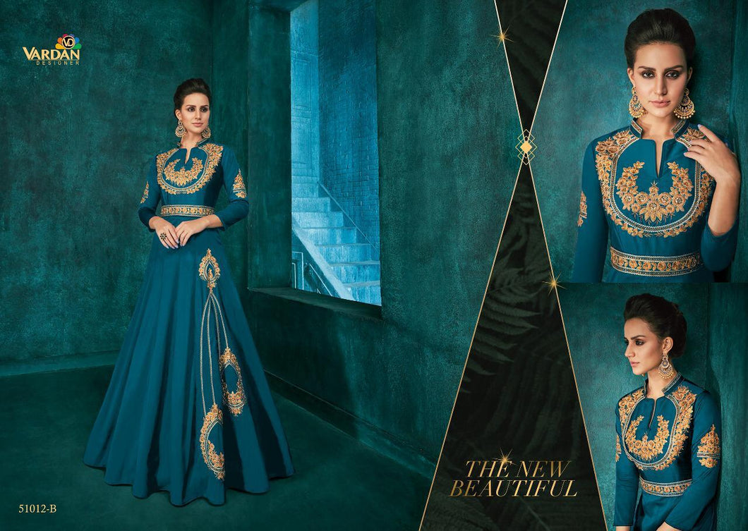 ROZI GOLD VOL 1- DESIGNER DRESS/PARTY GOWN( SET OF 4)