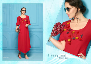 Designer Kurtis Wholesale Catalogue Antiquity Vol. 1 - Textile And Handicraft