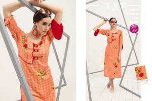 Designer Kurtis Wholesale Catalogue Breeza - Textile And Handicraft