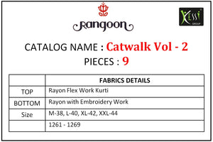 Catwalk Vol. 2 - Textile And Handicraft