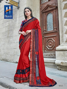 Diana Georgette Sarees Wholesale Catalog - Textile And Handicraft