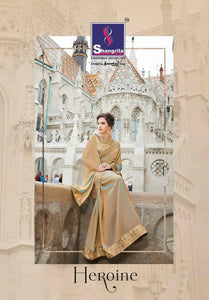 Heroine Georgette Fancy Sarees Wholesale. - Textile And Handicraft
