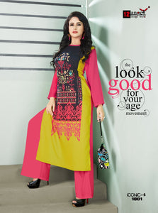 Designer Kurtis Wholesale Catalogue Iconic 4 - Textile And Handicraft