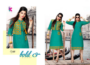 Designer Kurtis Wholesale Catalogue Kersom Sayona - Textile And Handicraft