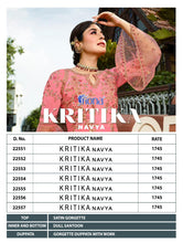 Kritika Navya Chudidar Dress Materials Catalogue catalogue