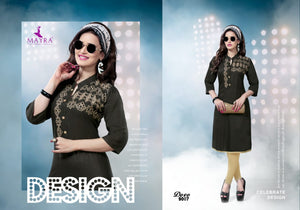 Designer Kurtis Wholesale Catalogue Mayra - Dove - Textile And Handicraft