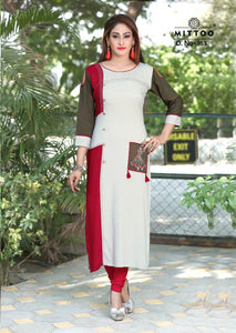 Designer Kurtis Wholesale Catalogue Mittoo Payal 5 - Textile And Handicraft