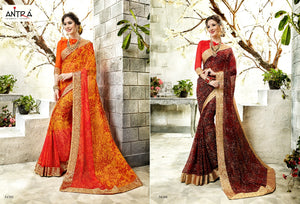 Anatra Georgette Sarees Wholesale Catalog Online - Textile and Handicraft