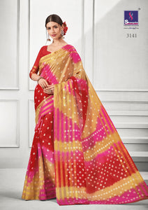 Cotton Sarees Wholesale - Bright colour pure print cotton sarees online catalogue