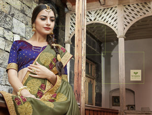 Wholesale Fancy Georgette Sarees embellished with the border laces Catalog -Sajda