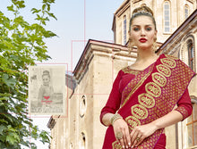 Load image into Gallery viewer, Wholesale Fancy Georgette Sarees embellished with the border laces Catalog -Sajda