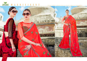 Autograph Vol. 1 Printed Georgette Sarees - Textile And Handicraft