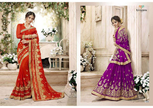 Purvaayi -  Wedding Georgette Sarees Wholesale Catalogue