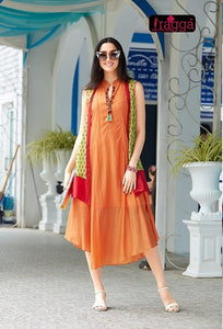 Designer Kurtis Wholesale Catalogue Ragga- B4U - Textile And Handicraft