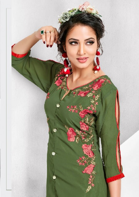 Designer Kurtis Wholesale Catalogue Flory Vol. 2 - Textile And Handicraft