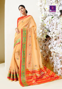 Silk Sarees Wholesale - Rich Silk Weaving Saree With Pure Kalamkari Thread Work