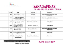 Sana Safinaz  catalogue
