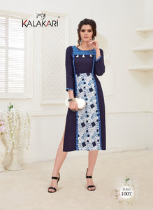 Designer Kurtis Wholesale Catalogue Kalakari NX- Saanvi 3 - Textile And Handicraft