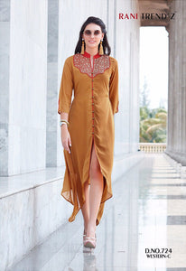 Designer Kurtis Wholesale Catalogue Rani Trendz - Western C - Textile And Handicraft