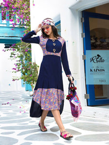 Designer Kurtis Wholesale Catalogue Kainos - Textile And Handicraft