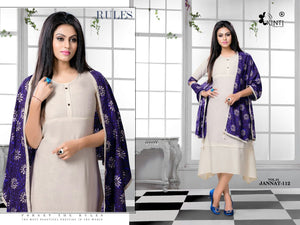 Designer Kurtis Wholesale Catalogue Jannat - Textile And Handicraft