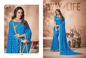 Ananya Vol. 6 georgette sarees wholesale catalog - Textile And Handicraft