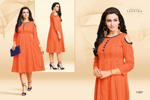 Designer Kurtis Wholesale Catalogue Kayce - Kankoo Vol. 2 - Textile And Handicraft