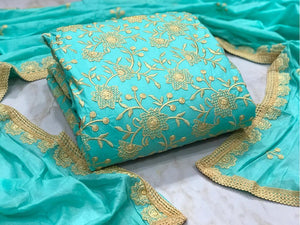 EXCLUSIVE KASHMIRI DRESS MATERIAL SUIT - Textile And Handicraft