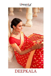 DEEPKALA by Lifestyle -LICHI SILK RICH SAREE - Textile And Handicraft