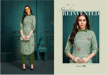 BLAZE- COTTON KURTI( 6 DESIGNS PER SIZE)  catalogue