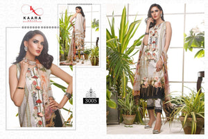 FIRDOUS LAWN COLLECTION VOL-3, KAARA COTTON DIGITAL PRINT SUIT WITH EMBROIDERY(SET OF 7)