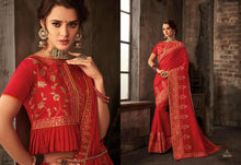 RAASLEELA VOL 20 SAREE TWO TONED SILK MIX WITH SATIN AND GEORGETTE ALONG WITH EMBROIDERY STONE AND GLITTER WORK ( 14 DESIGNS)  catalogue