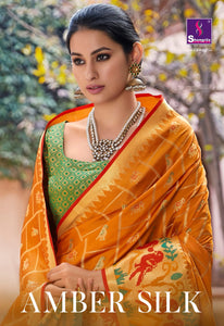 SHANGRILA AMBER SILK SAREE/ (SET OF 6)